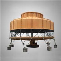 300T玻璃钢冷却塔 300吨圆形逆流式凉水塔厂家 东莞逆流圆塔生产商
